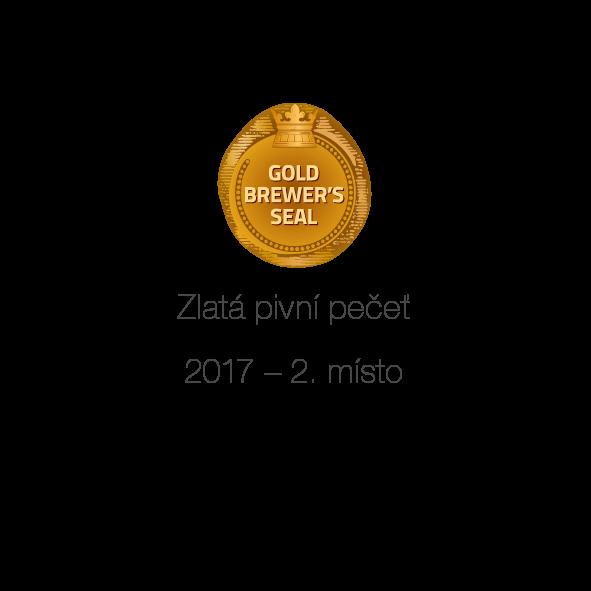 Zlatá pivní pečeť 2. místo - 2017