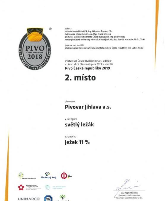 Úspěch na soutěži České Pivo 2019!